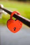 El bloqueo bajo la forma de corazón Fotografía de archivo