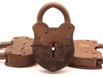 El bloqueo de puerta viejo Fotografía de archivo libre de regalías