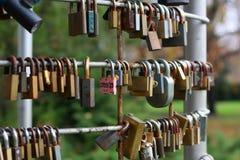 El bloqueo del amor. Foto de archivo libre de regalías