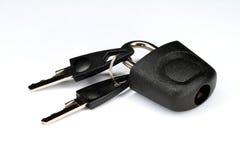 El bloqueo y los claves del equipaje Foto de archivo libre de regalías