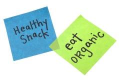 El bocado sano come orgánico Imagen de archivo