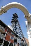 El Bois du Cazier, mina de carbón anterior, Marcinelle, Charleroi, Bélgica foto de archivo