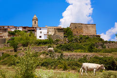 El Boixar village in Tinenca Benifassa of Spain Stock Image