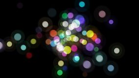 El bokeh al azar de los colores chispea las burbujas libre illustration