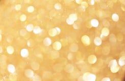 El bokeh De-enfocado oro del fondo del bokeh de la chispa resume la luz defocussed las luces del punto de la falta de definici?n  almacen de metraje de vídeo