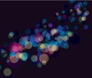 El bokeh multi del color enciende el fondo Fotos de archivo