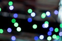 el bokeh texturiza el fondo borroso de las luces coloridas de la ciudad en el fondo borroso trasero de la noche foto de archivo libre de regalías