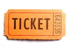 El boleto Foto de archivo libre de regalías