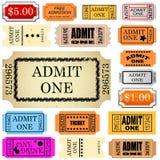 El boleto admite uno Fotografía de archivo