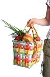 El bolso con el alimento Fotografía de archivo