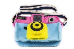 El bolso de la cámara es colorido Fotografía de archivo libre de regalías