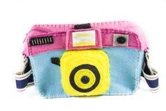 El bolso de la cámara es colorido Imagen de archivo