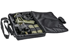El bolso para encubierto lleva del subfusil ametrallador Aislado foto de archivo libre de regalías