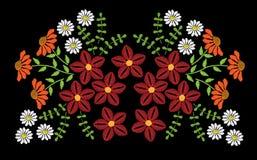 El bordado cose el modelo de imitación de la moda con colorido popular libre illustration