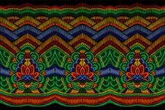 El bordado tradicional viste la decoración Frontera inconsútil oriental asiático étnico colorido de la moda coreana nacional libre illustration