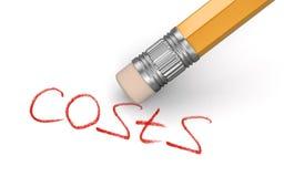 El borrado cuesta (la trayectoria de recortes incluida) Imagen de archivo libre de regalías