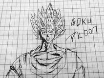 El bosquejo de Dragon Ball Z foto de archivo