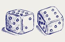 El bosquejo dos corta en cuadritos Imagen de archivo