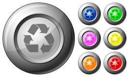 El botón de la esfera recicla símbolo Imagen de archivo