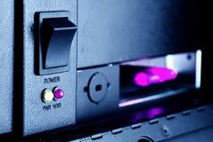 El botón de la inclusión de un servidor y de indicadores Fotografía de archivo libre de regalías