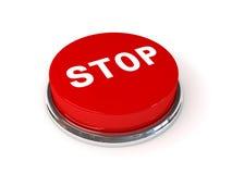 El botón de paro Fotografía de archivo libre de regalías