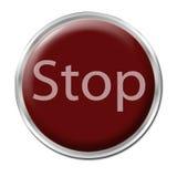 El botón de paro Fotos de archivo