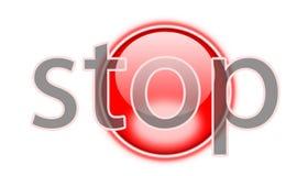 El botón de paro stock de ilustración