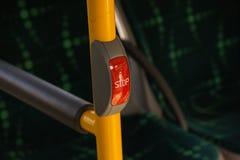 El botón de paro Foto de archivo
