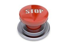 El botón de paro - 3D Imagen de archivo