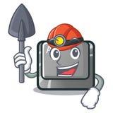 El botón del carácter del alt del minero ató el teclado ilustración del vector