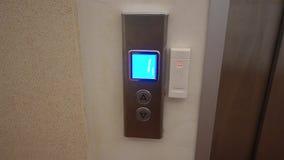El botón del elevador