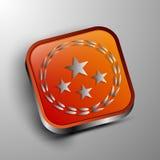 El botón del vector 3d Fotografía de archivo libre de regalías