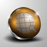 El botón del vector 3d Fotos de archivo