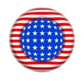 El botón los E.E.U.U. señala fantasía por medio de una bandera imagen de archivo libre de regalías