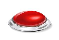 El botón rojo. Imágenes de archivo libres de regalías