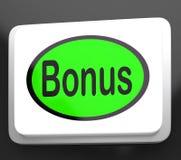 El botón de la prima muestra el regalo adicional o la propina en línea Imagen de archivo libre de regalías