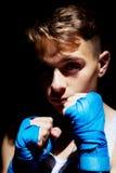 El boxeador adolescente Fotografía de archivo