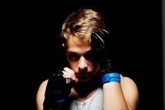 El boxeador adolescente Imágenes de archivo libres de regalías