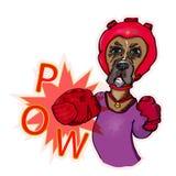 El boxeador del perro sopla Vector Fotografía de archivo
