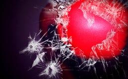 El boxeador rompe el vidrio Fotos de archivo libres de regalías