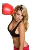 El boxeo se divierte a la mujer Imagen de archivo