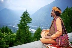 El brahmán indio mira al valle Kullu Fotografía de archivo libre de regalías