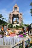 El Brahma cuatro-hecho frente de oro (Phra Phrom) Imágenes de archivo libres de regalías