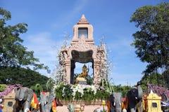 El Brahma cuatro-hecho frente de oro (Phra Phrom) Imagen de archivo