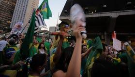 El Brasil calle protesta marzo de 2016 São Pablo Imagen de archivo libre de regalías