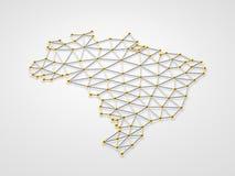 El Brasil 3D Imagen de archivo