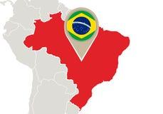 El Brasil en mapa del mundo
