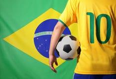 El Brasil y fútbol Imagenes de archivo