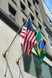 El Brasil y los Estados Unidos Foto de archivo libre de regalías
