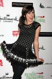 El brazo de Allisyn Ashley llega el Hollywood Christmas Parade 2011 Imágenes de archivo libres de regalías
